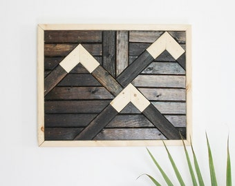 Geometric Wood Wall Hanging