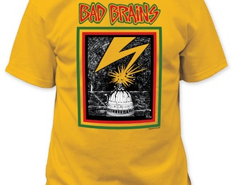 Bad Brains capitol adult tee - BB11(Yellow)