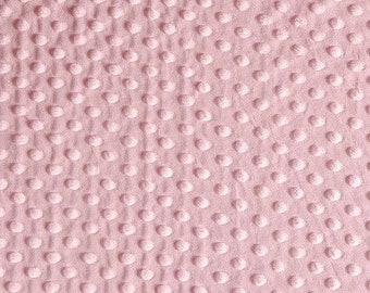 Minky Dimple Dot Fabric By The Yard - Pink (W1)
