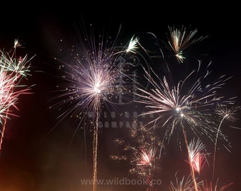Fireworks in the Night, Photography - Wallpaper,Wall Art - Print Photo,Fine Art Print,Postcard,Poster,Image,DIN A4 - tumblr new year cologne