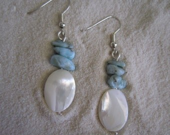 Larimar and Mother of Pearl