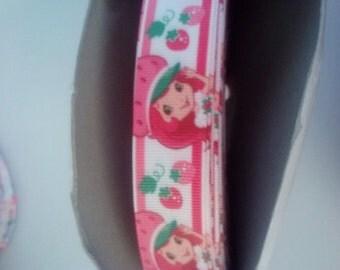 strawberry shortcake inspired ribbon 7/8 size