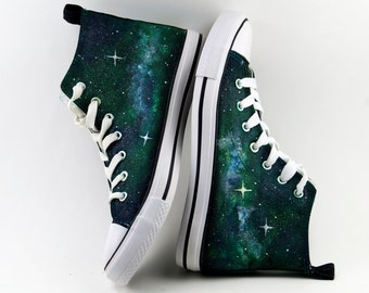 Galaxy Shoes Green & blue