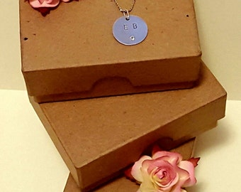 Beautiful Hand stamped initial Necklace
