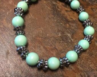 Green & Gray Bracelet