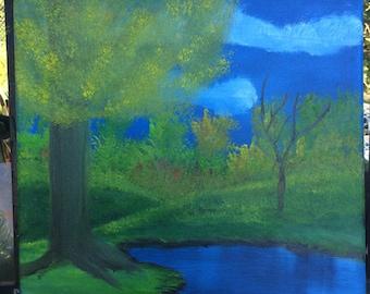 Dark Woods Oil Painting