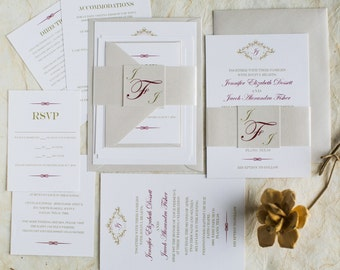 Elegant Invitation Suite (starting at 4.70 ea)