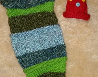 Hungry Caterpillar knit set for baby