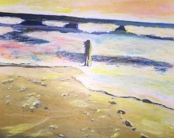 Girl at the Beach ORIGINAL