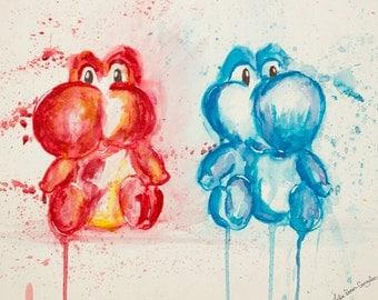 Yoshi Watercolo Art Print