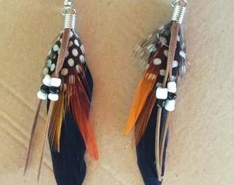 Indian Summer Feather Earrings