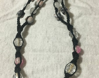Pink and Black Marble Barefoot Sandal
