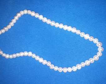 """18"""" Freshwater Pearl Necklace with Sterling Silver Clasp FREE SHIPPING!"""