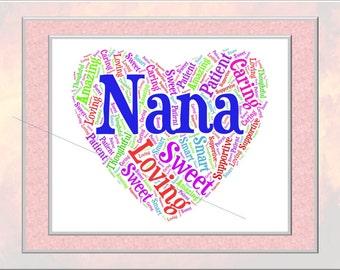 Nana Word Art