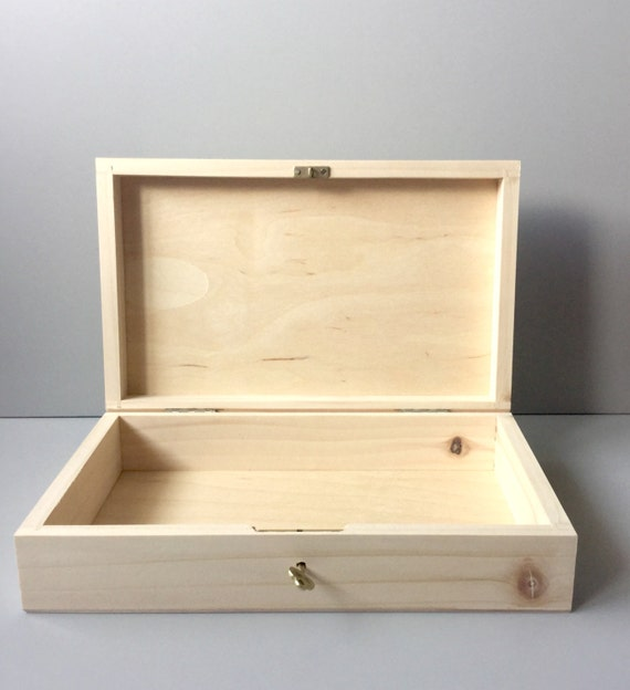 Wooden box wood box wooden box with key wooden box with for Craft storage boxes with lids