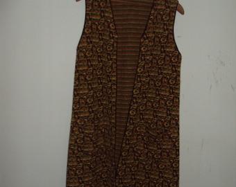 Vintage 1970s Long Knit Vest