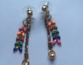 Handmade colorful earrings