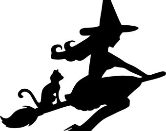 Cute Witch Decal