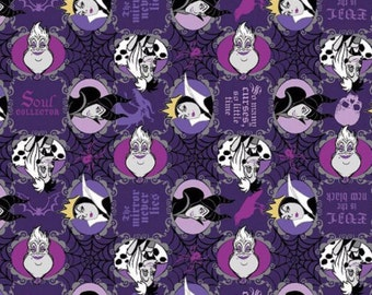 Disney Fabric-  Villains Fabric- Evil is the New Black Fabric from Springs Creative