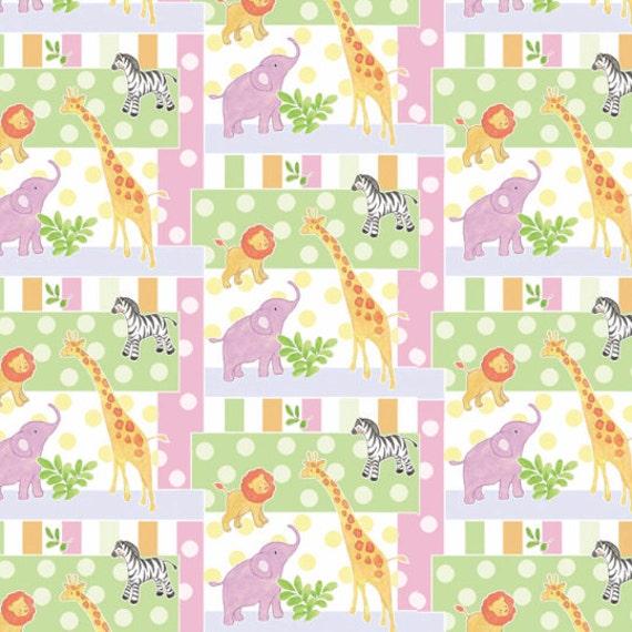 Nursery safari baby patch fabric from springs creative for Baby nursery fabric yard