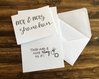 Personalized Wedding Greeting Card