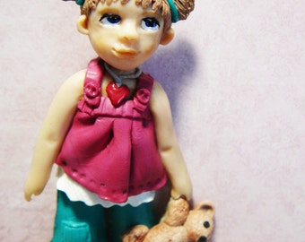 Polymer Clay Girl Free Shipping