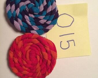 2 braided hair clips