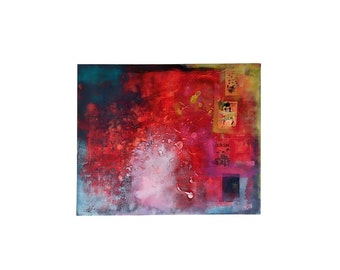 Jain - Abstract painting Art abstract modern red blue yellow white black