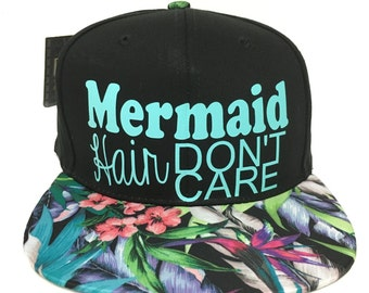 Trucker Hats, Floral Hats, Custom Hats, Mermaid Hair Dont Care