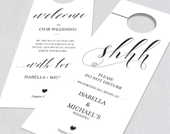 Wedding Door Hanger Door Hanger Printable By