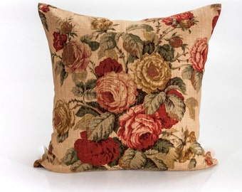 Designer pillow, decorative pillow cover, Ralph Lauren pillow, floral pillow cover