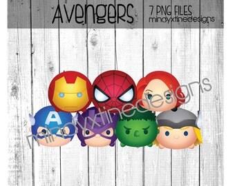 Avengers Tsum Tsum Clipart