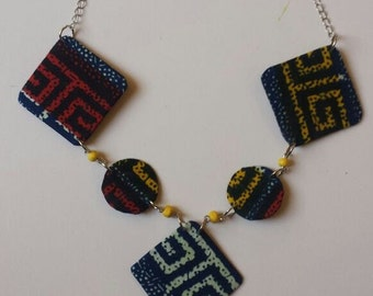 African Printed Necklace