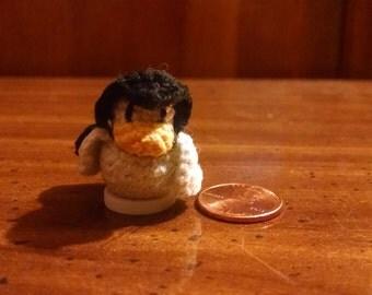 Micro Crochet Button Doll- Super Penguin/Duck