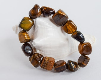 Tigers Eye Tumbled Stone Bracelet