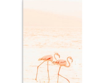 The Flamingos - Elephant Print  - Fine Art Photography Print - Wall Decor