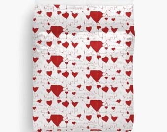 Heartbeat Bedding Duvet Cover