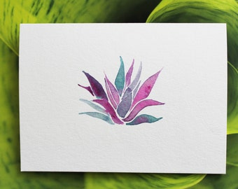 Agave Watercolor Blank Notecard 5 x 7