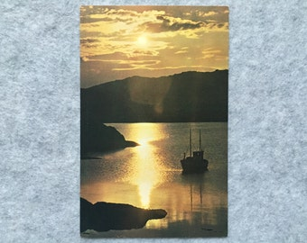 Midnight Sun at 2 AM in North Cape Norway Postcard