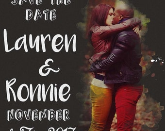 Eclectic Square Save the Date Template
