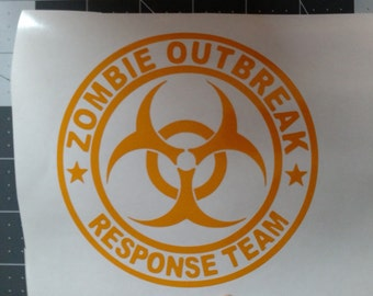 Zombie Outbreak Response Team - Vinyl Graphic Decal