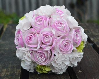 Bridal bouquet with Roses and Carnation