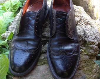 Handmade Black Leather Men's Oxford Shoes
