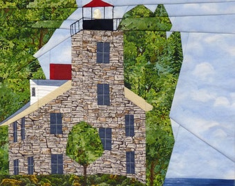 Sodus Point, NY Lighthouse quilt pattern - ON SALE