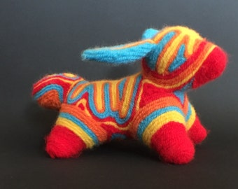 Psychedelic yarn rabbit