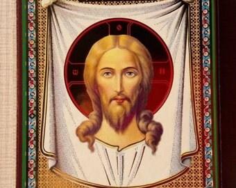 "Icon The Holy Face of Jesus Christ 4""х5"" СПАС НЕРУКОТВОРНЫЙ ОСВЯЩЕНА consecrated"