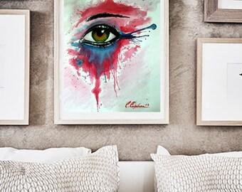 Gift box eye, film, painting, eyes, decoration, acrylic,