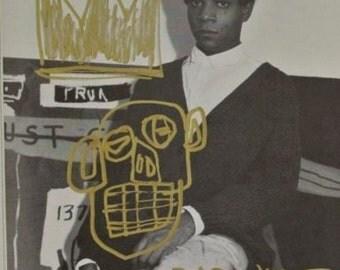 Jean Michel Basquiat Dessins 2 Signatures Estimé : 250,000 usd ( Peinture à l'huile )