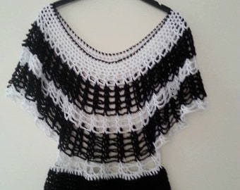 Handmade crochet ladies tunic.