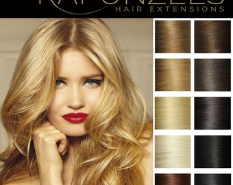 "20"" Pre bonded U Nail tip hair extensions, human remy hair 25 strands 0.5 gram - Choose colour"
